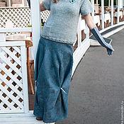 """Одежда ручной работы. Ярмарка Мастеров - ручная работа Юбка валяная """"Северное море"""". Handmade."""