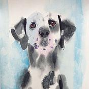 Картины и панно ручной работы. Ярмарка Мастеров - ручная работа Портрет далматинца. Handmade.