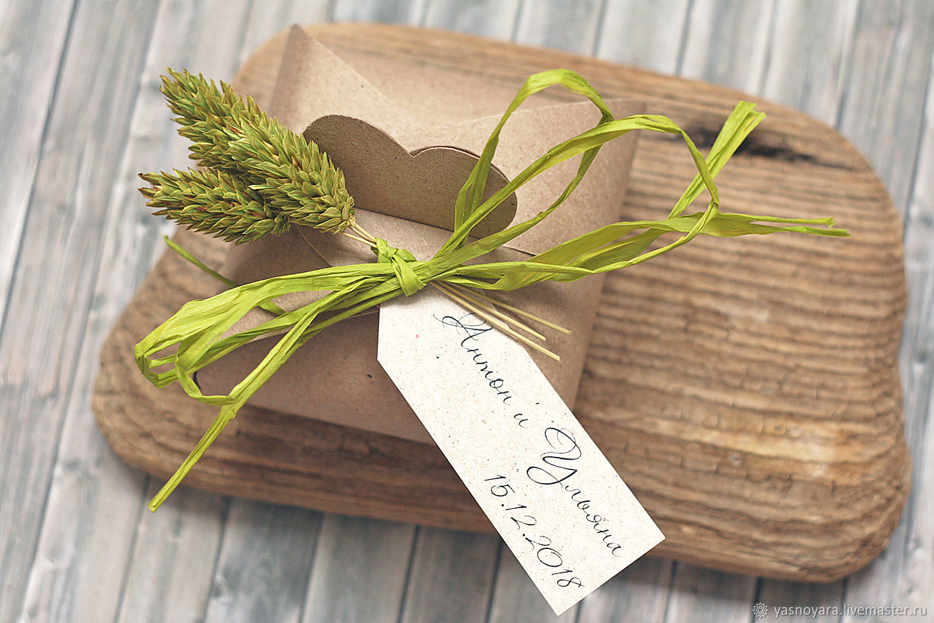 Wedding bonbonniere light Green accent (rustic, Country), Bonbonniere, Moscow,  Фото №1