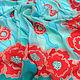 Bright summer scarf batik silk Turquoise red. Shawls1. Silk Batik Watercolor ..VikoBatik... Online shopping on My Livemaster.  Фото №2