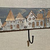 Для дома и интерьера handmade. Livemaster - original item Housekeeper: Housekeeper Night city 7. The housekeeper wall.. Handmade.