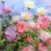 Картины и панно handmade. Livemaster - original item Picture of wool Roses of Eden. Handmade.
