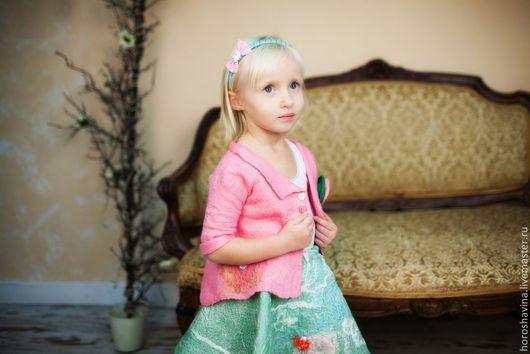"""Одежда для девочек, ручной работы. Ярмарка Мастеров - ручная работа. Купить Кафтан """"Розовый шёлк"""". Handmade. Розовый, девочка"""