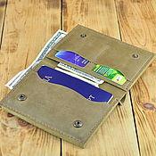 Кошельки ручной работы. Ярмарка Мастеров - ручная работа Кожаный бумажник для документов, паспорта, карт и денег. Handmade.