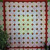 Для дома и интерьера ручной работы. Ярмарка Мастеров - ручная работа лоскутное покрывало Цветочный калейдоскоп. Handmade.