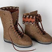 """Обувь ручной работы. Ярмарка Мастеров - ручная работа Ботинки """"Velours"""". Handmade."""