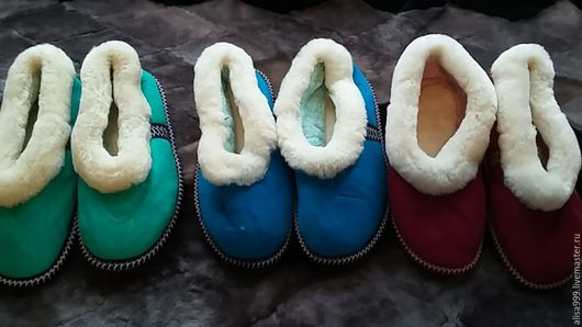 Обувь ручной работы. Ярмарка Мастеров - ручная работа. Купить Чувяки из овчины на твёрдой подошве. Handmade. Чуни, подарок женщине