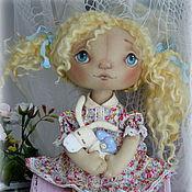 """Куклы и игрушки ручной работы. Ярмарка Мастеров - ручная работа Тыквоголовка""""Оленька и её мечтательный ослик"""". Handmade."""