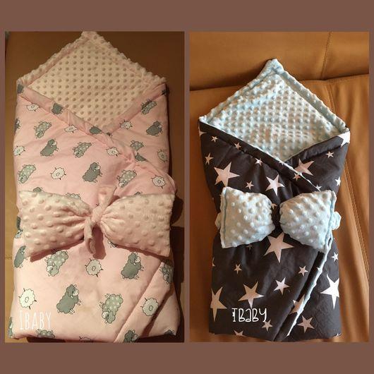 Детская ручной работы. Ярмарка Мастеров - ручная работа. Купить Конверт-одеяло для новорожденного. Handmade. Конвертнавыписку, одеяло для новорожденного, конвертодеяло