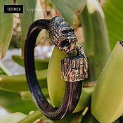 Украшения handmade. Livemaster - original item Silver Gorilla bracelet, leather. Handmade.