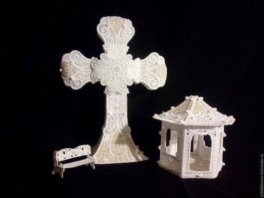 Освещение ручной работы. Ярмарка Мастеров - ручная работа. Купить Крест в золоте. Handmade. Золотой, подарок на крещение, ажурный крест