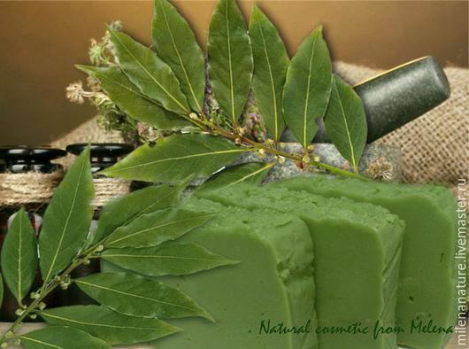 """Мыло ручной работы. Ярмарка Мастеров - ручная работа. Купить """"Лавр и Исландский мох"""" натуральное мыло с нуля (20% масла лавра). Handmade."""