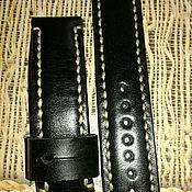 Аксессуары ручной работы. Ярмарка Мастеров - ручная работа Ремешок кожаный для часов. Handmade.