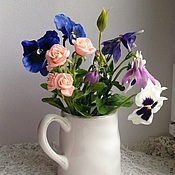 Цветы и флористика ручной работы. Ярмарка Мастеров - ручная работа Цветы из полимерной глины Букет садовый. Handmade.