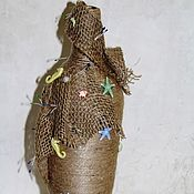 """Бутылки ручной работы. Ярмарка Мастеров - ручная работа Декоративная бутылка-ваза """" Морской бриз"""". Handmade."""