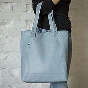 Сумки и аксессуары handmade. Livemaster - original item Women`s blue leather bag. Handmade.
