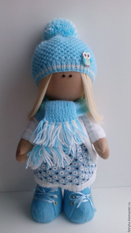 Куклы тыквоголовки ручной работы. Ярмарка Мастеров - ручная работа. Купить Куколка. Handmade. Бирюзовый, куколка ручной работы