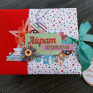 Сувениры и подарки ручной работы. Ярмарка Мастеров - ручная работа Альбом для мальчика в американском стиле. Handmade.