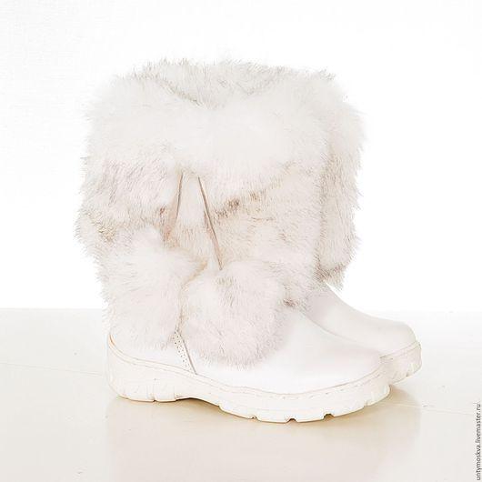 Обувь ручной работы. Ярмарка Мастеров - ручная работа. Купить Унты детские ( для девочек) уд60. Handmade. Обувь