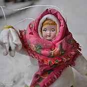 Подарки к праздникам ручной работы. Ярмарка Мастеров - ручная работа Ватная елочная игрушка ОКСАНА. Handmade.