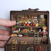 Куклы и игрушки ручной работы. Ярмарка Мастеров - ручная работа Кладовая-сундук для домовенка. Handmade.