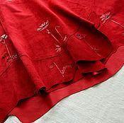 Skirts handmade. Livemaster - original item Suede skirt. Handmade.