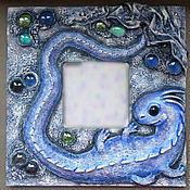 Картины и панно ручной работы. Ярмарка Мастеров - ручная работа Панно зеркало Морской дракончик. Handmade.
