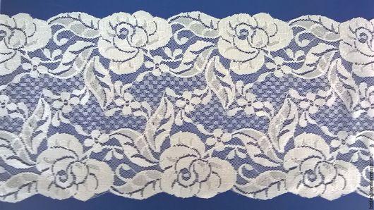 Шитье ручной работы. Ярмарка Мастеров - ручная работа. Купить Кружево широкое 145 мм  Вязаное Белые  Розы  для белья и одежды. Handmade.