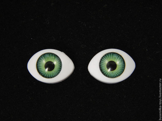 """Куклы и игрушки ручной работы. Ярмарка Мастеров - ручная работа. Купить 7х9мм Глаза кукольные (зеленые) 2шт. """"5621"""". Handmade."""