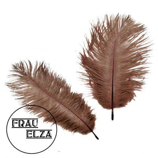 Другие виды рукоделия ручной работы. Ярмарка Мастеров - ручная работа. Купить Маленькие перья страуса 15-17 см Шоколад. Handmade.