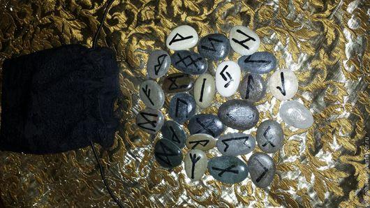Гадания ручной работы. Ярмарка Мастеров - ручная работа. Купить Руны на морских камнях для гадания в мешочке. Handmade. Серый