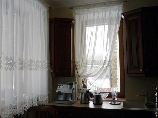 Текстиль, ковры ручной работы. Ярмарка Мастеров - ручная работа. Купить Комплект штор на кухню №14. Handmade. Белый, пошив