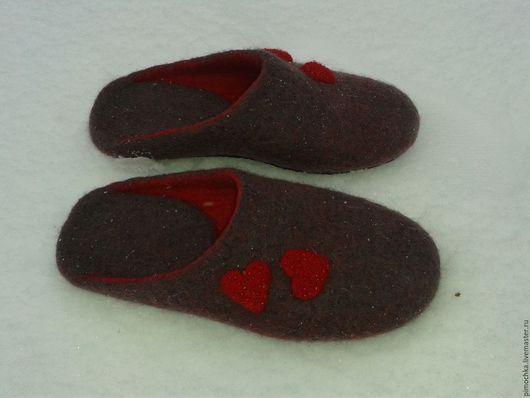 Обувь ручной работы. Ярмарка Мастеров - ручная работа. Купить Гранатовые  сердца. Handmade. Комбинированный, красный