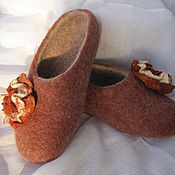 Обувь ручной работы handmade. Livemaster - original item Felted Slippers, felted Slippers womens. Handmade.