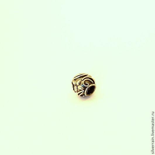Для украшений ручной работы. Ярмарка Мастеров - ручная работа. Купить Бусина круглая серебро 925 Бали, стиль Пандора. Handmade.