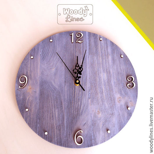 Часы для дома ручной работы. Ярмарка Мастеров - ручная работа. Купить Часы настенные Шебби. Handmade. Серый, часы настенные