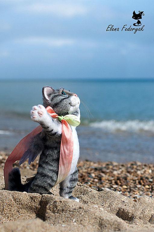 Игрушки животные, ручной работы. Ярмарка Мастеров - ручная работа. Купить там, куда зовет душа.... Handmade. Кот