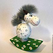 Куклы и игрушки handmade. Livemaster - original item Horse apples (toy-rocking chair 1). Handmade.