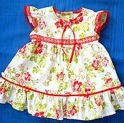 """Работы для детей, ручной работы. Ярмарка Мастеров - ручная работа платье """"Нежный шиповник"""". Handmade."""