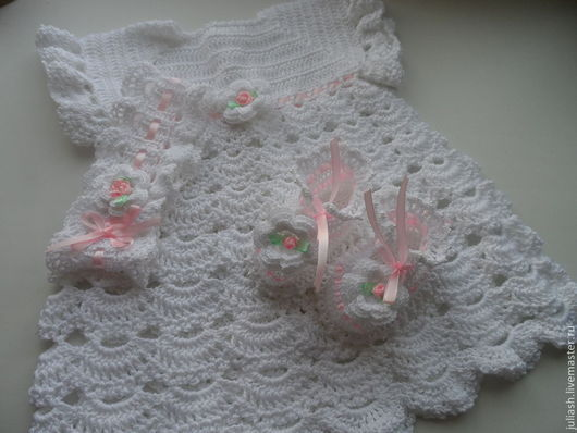 """Одежда ручной работы. Ярмарка Мастеров - ручная работа. Купить Комплект для малышки """""""". Handmade. Белый, нарядная повязка"""