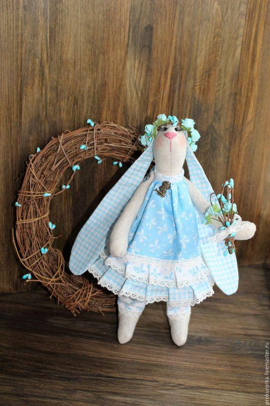 Куклы Тильды ручной работы. Ярмарка Мастеров - ручная работа. Купить Весенняя Зайчиха. Handmade. Голубой, тильда заяц, заяц