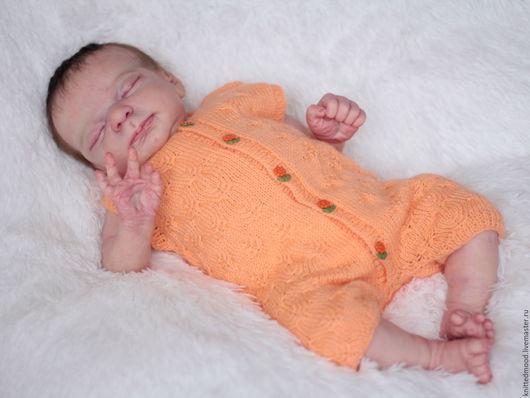 """Одежда для кукол ручной работы. Ярмарка Мастеров - ручная работа. Купить Боди """"Летний денек"""". Handmade. Оранжевый, одежда для реборн"""