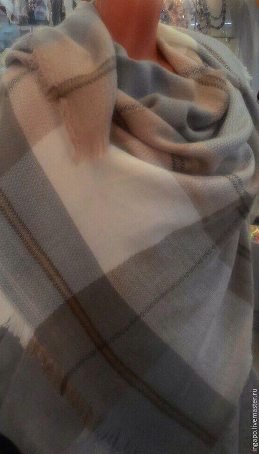 """Шитье ручной работы. Ярмарка Мастеров - ручная работа. Купить Платок """"Шотландия"""" s004. Handmade. Бежевый, ткань для рукоделия"""