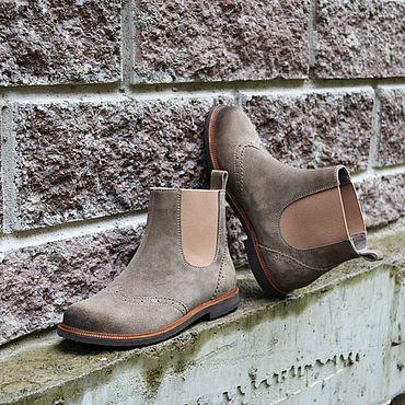 Обувь ручной работы. Ярмарка Мастеров - ручная работа Челси женские замшевые. Handmade.
