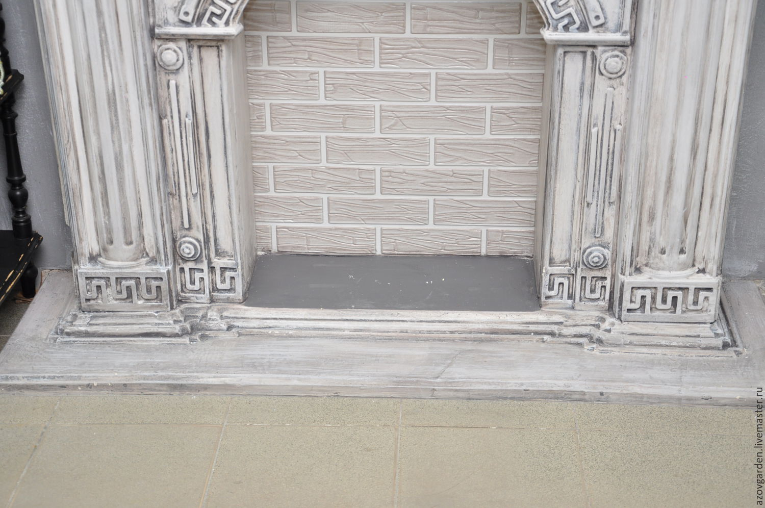 buy fireplace decorative greece concrete precast for painting on