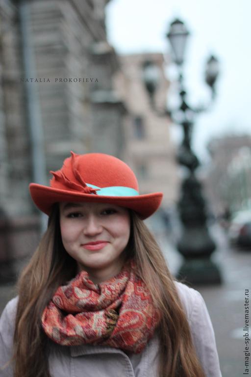 """Шляпы ручной работы. Ярмарка Мастеров - ручная работа. Купить Шляпа """"Le rayon chaud de Saint-Petersbourg """" (Теплый луч Петербурга). Handmade."""