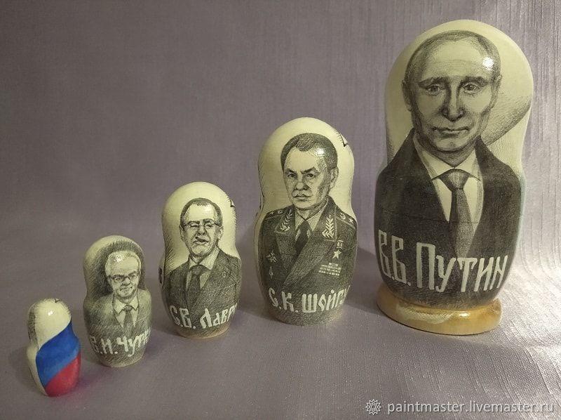 Портретная матрёшка Президент Путин, Матрешки, Харьков,  Фото №1