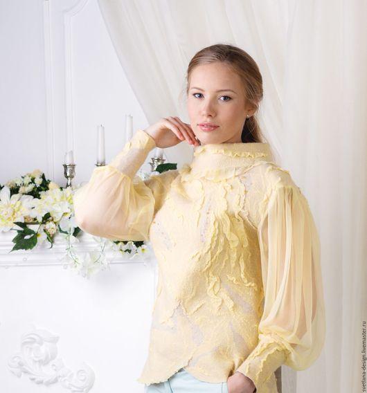 Кофты и свитера ручной работы. Ярмарка Мастеров - ручная работа. Купить Свитер медовый. Handmade. Лимонный, теплый