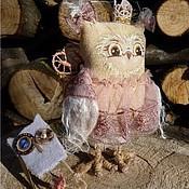 Куклы и игрушки ручной работы. Ярмарка Мастеров - ручная работа Текстильная игрушка сова. Маленькая Принцесса. 12.5 см.. Handmade.