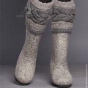 """Обувь ручной работы. Ярмарка Мастеров - ручная работа """"Classic"""" с серой косой. Handmade."""